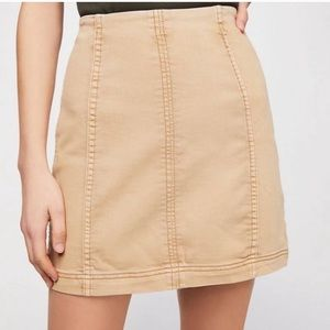Free people modern femme skirt in tan size 12